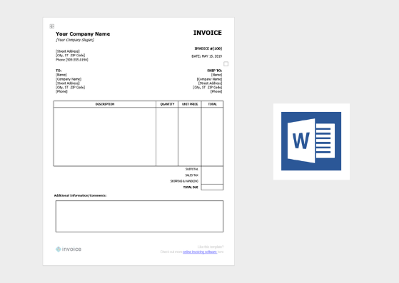 Free Invoice Template - Word (.docx)