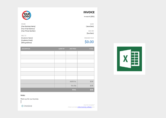 Free Invoice Template - Excel (.xlsx)