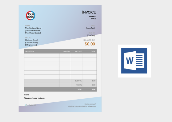 Invoice Template For Microsoft Word from getinvoice.co